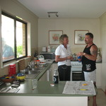 Di and Brad in the kitchen